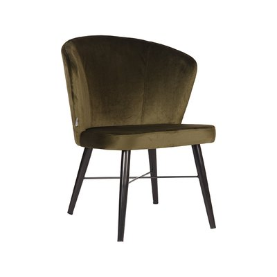 LABEL51 - Fauteuil Wave - Fluweel - Army