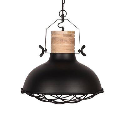 LABEL51 - Hanglamp Grid - Zwart -Mangohout - 52 cm