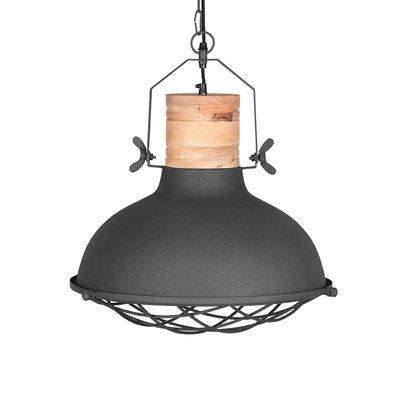 LABEL51 - Hanglamp Grid - Grijs - Mangohout - 52 cm