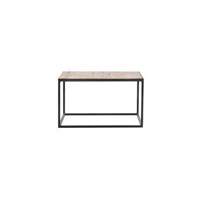 Salontafel eiken op metalen frame