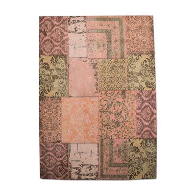 Carpet Patchwork 170x240 cm - orange