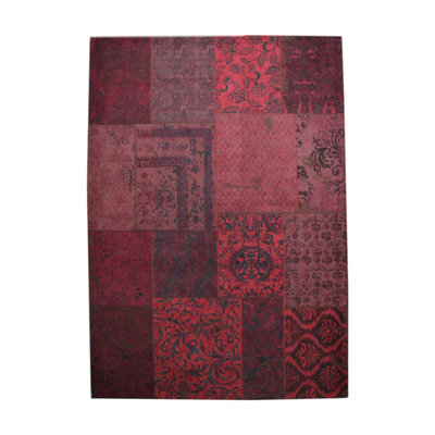 Carpet Patchwork 170x240 cm - red