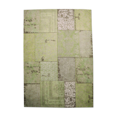 Carpet Patchwork 170x240 cm - green