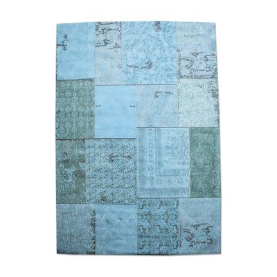 Carpet Patchwork 170x240 cm - turquoise