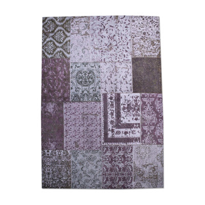 Carpet Patchwork 170x240 cm - purple