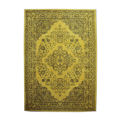 Carpet Medallion 170x240 cm - yellow