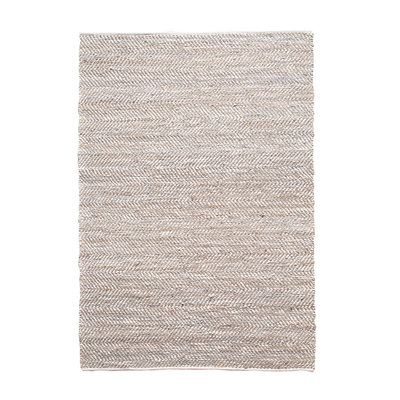Carpet Sisal leather 60x120 cm - white