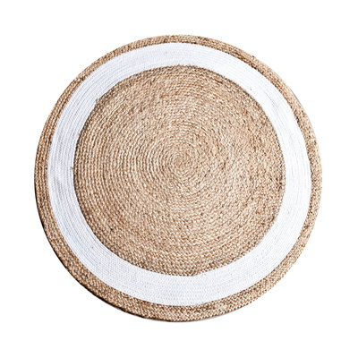 Carpet Jute round 120 cm - natural white