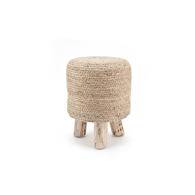 Stool Jute 33x33 cm - natural