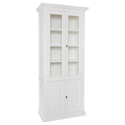 Vitrine provence 2x2-deuren 3-planken