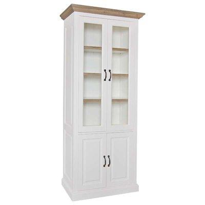 Vitrine Oakdale 2x2-deuren 3-planken