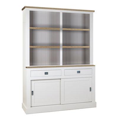Boekenkast Boxx 2-deuren 2-laden + Oak