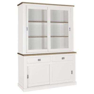 Schuifdeurkast Boxx 2x2-deuren 2-laden + Oak