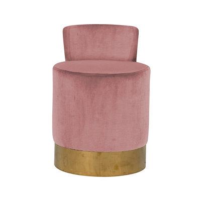 Stoel Kaylee Pink Velvet