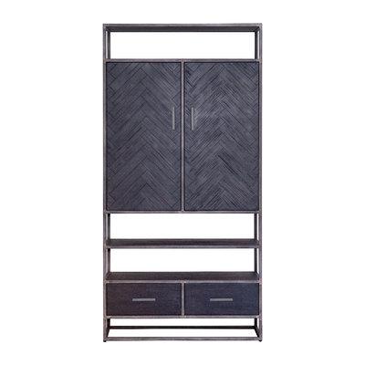 kabinet Hudson 2 deuren 2 laden zwart