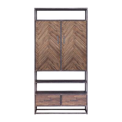 kabinet Hudson 2 deuren 2 laden bruin