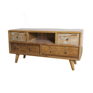 Vintage TV Dressoir 4 lades en open vak