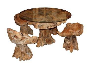 Wortelhout meubels